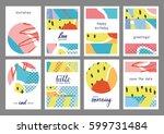 set of creative universal...   Shutterstock .eps vector #599731484