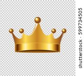 golden crown with gradient mesh ... | Shutterstock .eps vector #599734505