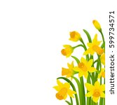 spring narcissus with gradient... | Shutterstock .eps vector #599734571