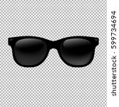 sunglasses in transparent... | Shutterstock .eps vector #599734694