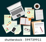 business analyst. research... | Shutterstock .eps vector #599739911