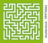 green labyrinth | Shutterstock .eps vector #59974063