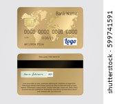 realistic vector golden banking ... | Shutterstock .eps vector #599741591