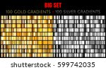 vector big set of 100 gold and... | Shutterstock .eps vector #599742035
