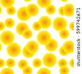 Yellow Dandelion Pattern....