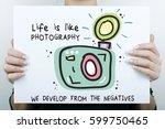 inspirational happy positive... | Shutterstock . vector #599750465