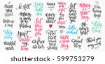 lettering photography overlay... | Shutterstock .eps vector #599753279