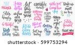 lettering photography overlay... | Shutterstock .eps vector #599753294