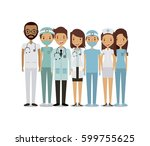 professional medical people... | Shutterstock .eps vector #599755625