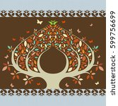 greeting card background.... | Shutterstock . vector #599756699