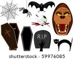 vector halloween elements | Shutterstock .eps vector #59976085