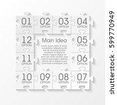 puzzle twelve piece business... | Shutterstock .eps vector #599770949