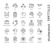 Stock vector business management and growth vector line icons 599773115