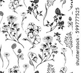 vector seamless floral pattern... | Shutterstock .eps vector #599777525