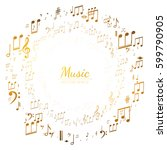 abstract background with music... | Shutterstock .eps vector #599790905
