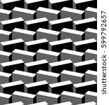 vector pattern. abstract... | Shutterstock .eps vector #599792657