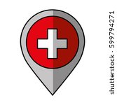 pin location with switzerland... | Shutterstock .eps vector #599794271