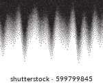 dotwork gradient background ... | Shutterstock .eps vector #599799845