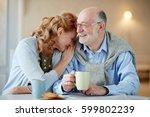 portrait of smiling senior... | Shutterstock . vector #599802239