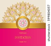 invitation card templates with... | Shutterstock .eps vector #599804057