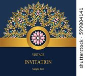 invitation card templates with... | Shutterstock .eps vector #599804141