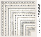 big set of decorative seamless... | Shutterstock .eps vector #599810249