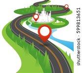 navigation concept | Shutterstock .eps vector #599813651