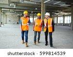 group of contractors walking...   Shutterstock . vector #599814539