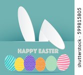 happy easter day | Shutterstock .eps vector #599815805