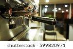 retro coffee machine holder... | Shutterstock . vector #599820971
