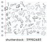arrow doodles on a notebook... | Shutterstock .eps vector #59982685