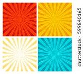 pop art rays vector set. yellow ...   Shutterstock .eps vector #599840165