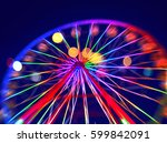 defocused ferris wheel with... | Shutterstock . vector #599842091