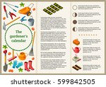 the garden's calendar cover...   Shutterstock .eps vector #599842505