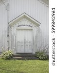 Christian Church Sign Above...