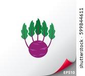 kohlrabi cabbage icon | Shutterstock .eps vector #599844611