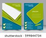 brochure template. business... | Shutterstock .eps vector #599844734