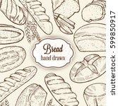 vector bakery retro background... | Shutterstock .eps vector #599850917