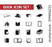 book icon set. | Shutterstock .eps vector #599856221