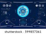 futuristic modern hud  user... | Shutterstock .eps vector #599857361