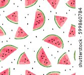 Seamless Watermelons Pattern....