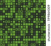 geometric circle seamless... | Shutterstock .eps vector #599864309