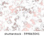 vector marble with rose gold... | Shutterstock .eps vector #599865041
