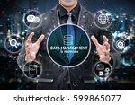 data management platform and... | Shutterstock . vector #599865077
