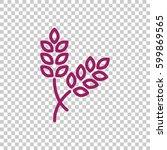 ear of wheat icon flat. | Shutterstock .eps vector #599869565