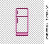 refrigerator icon flat. | Shutterstock .eps vector #599869724