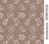 medicine seamless pattern... | Shutterstock .eps vector #599875535