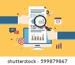 flat design vector illustration ...   Shutterstock .eps vector #599879867