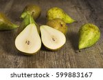 Conference Pears Sliced On...