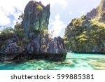amazing scenic view of sea bay...   Shutterstock . vector #599885381